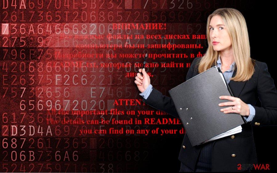 Shade ransomware virus uses red alert