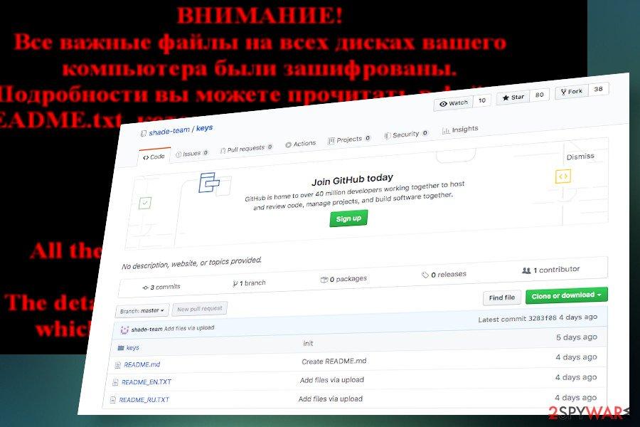Shade ransomware shuts down