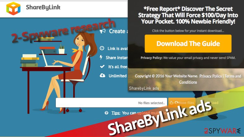 Picture showing an example of an ad by ShareByLink adware