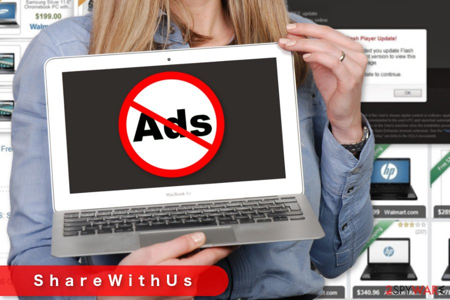 The image of ShareWithUs ads