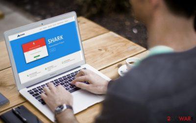 An image of the Shark ransomware virus