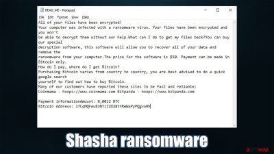 Shasha ransomware