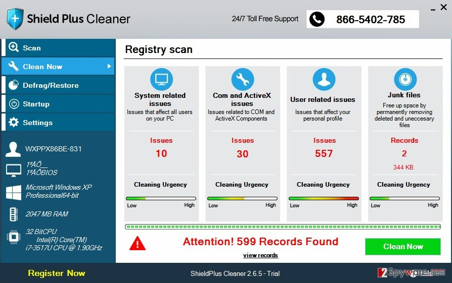 Shield Plus Cleaner virus