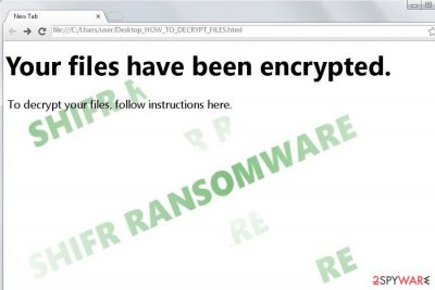 The image illustrating Shifr virus