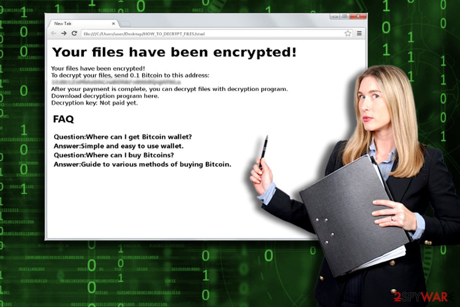 The screenshot of Shifr malware