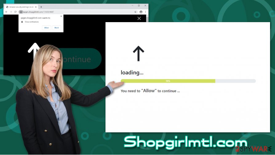 Shopgirlmtl.com push notification virus