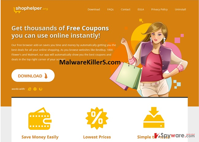 ShopHelper virus snapshot