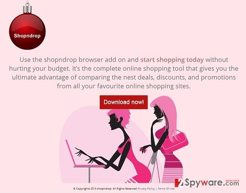 Shopndrop adware snapshot