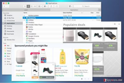 Screenshot of Shopperify ads