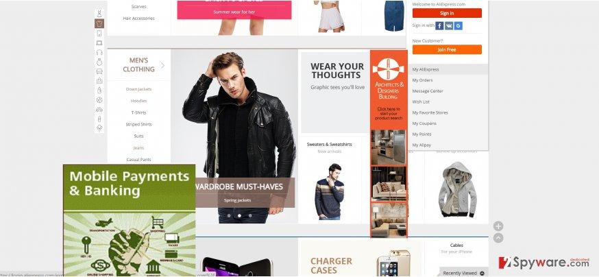 The screenshot of ShopperPro3