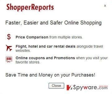 ShopperReports adware snapshot
