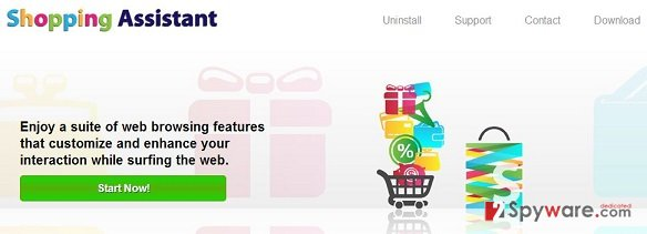 Shopping Assistant ads snapshot