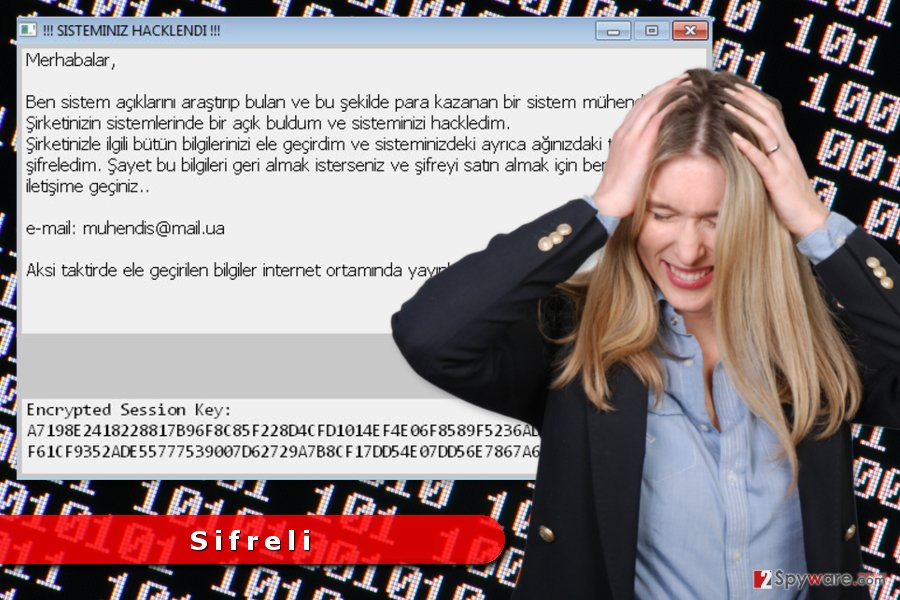 The image of Sifreli ransomware