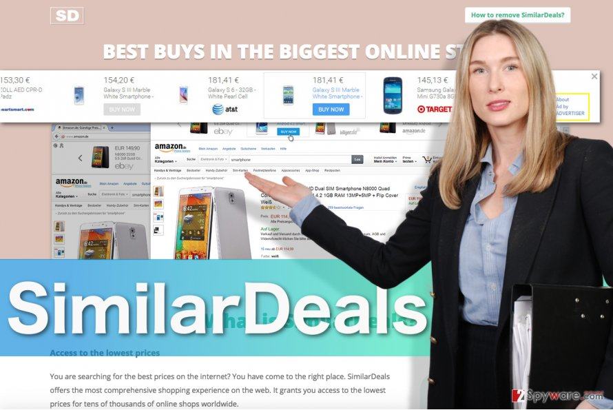 Image displaying SimilarDeals official website