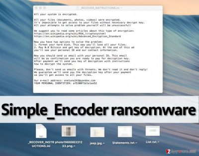 Simpel_Encoder ransomware note