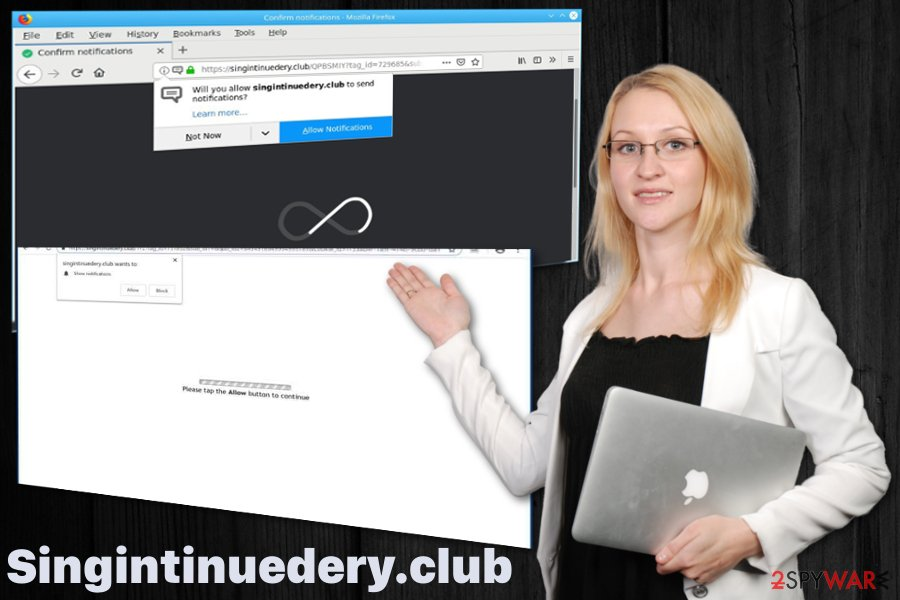 Singintinuedery.club push notification virus