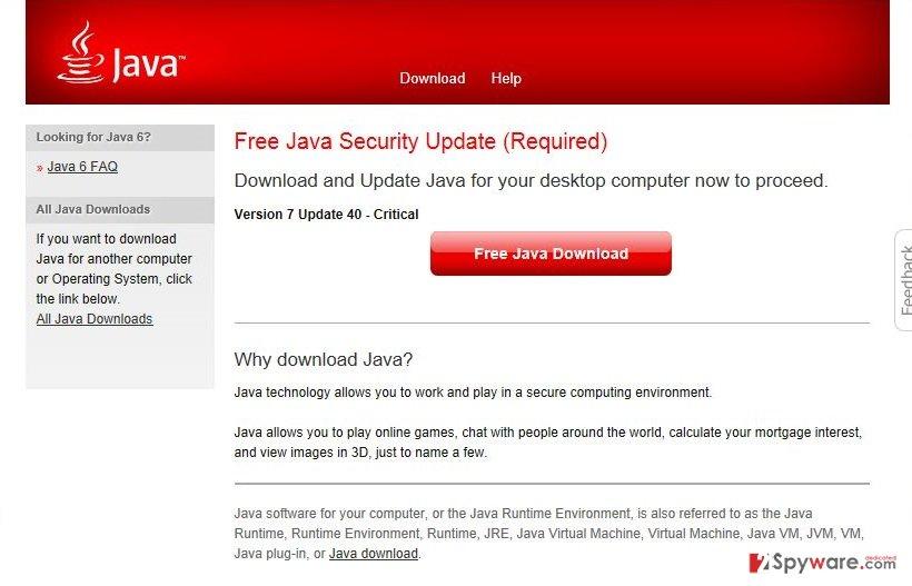 sitewebred.info virus snapshot