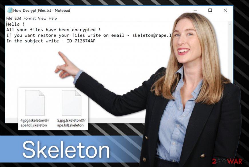 Skeleton ransomware illustration