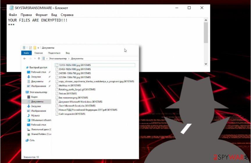 SkyStars ransomware