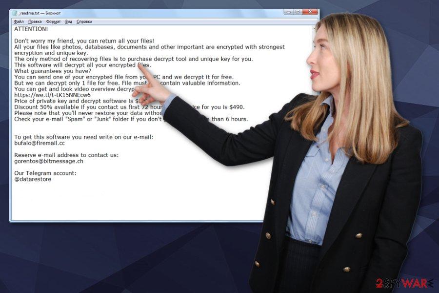Skymap ransomware virus