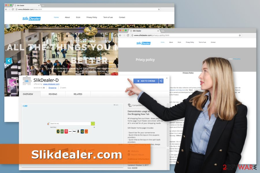 Picture of Slikdealer.com virus