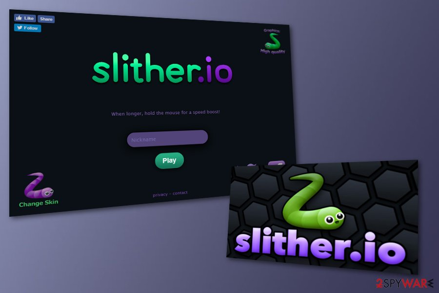 Slither.io adware