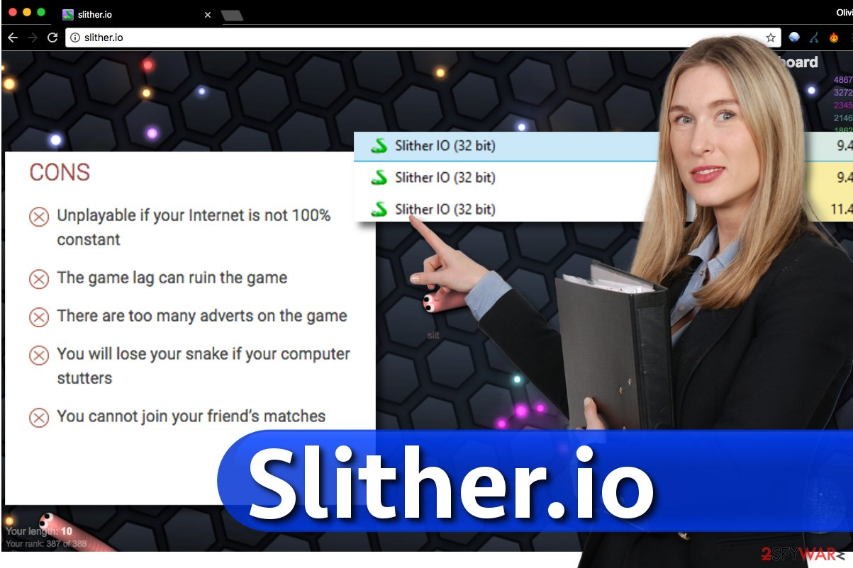 Image of Slither.io application