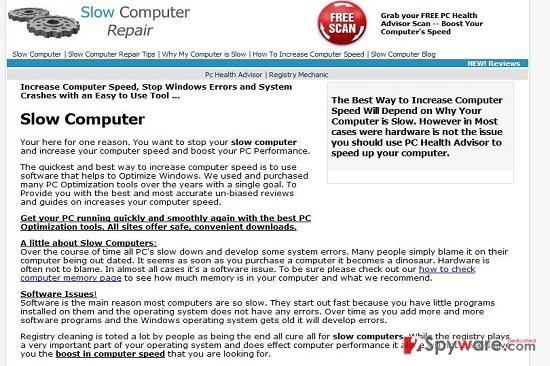 Slowcomputerrepairr.com virus snapshot