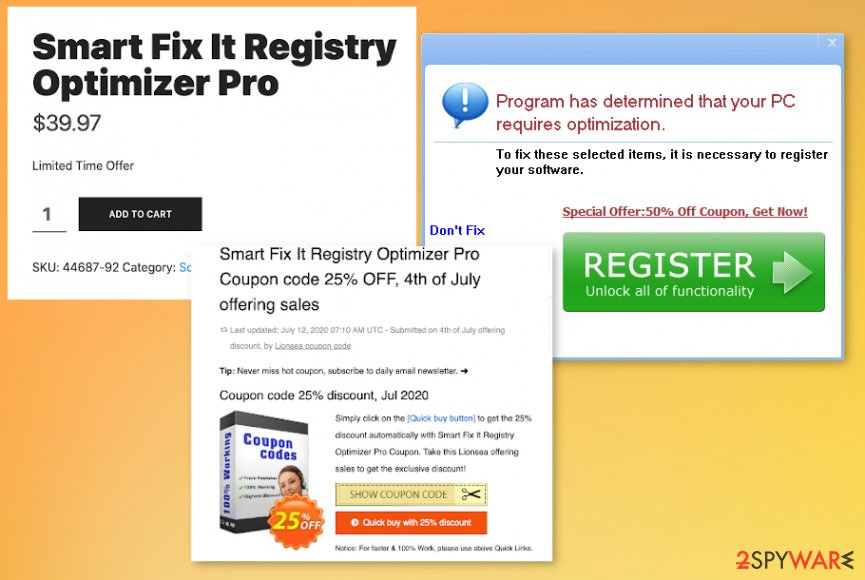 Smart Fix It Registry Optimizer Pro virus
