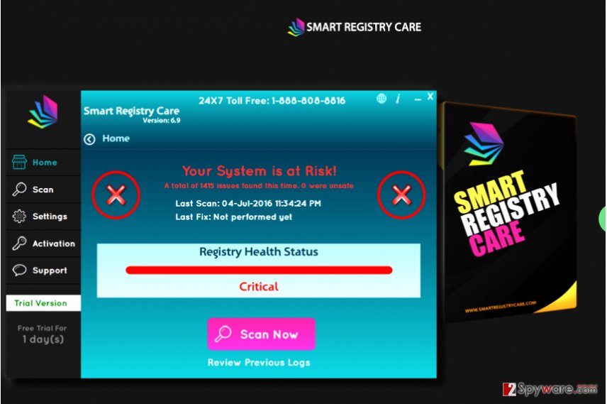 Smart Registry Care virus
