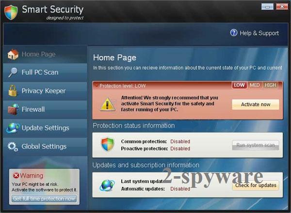 Smart Security virus snapshot