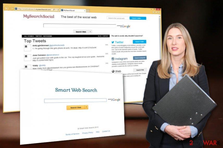 SmartWebSearch browser hijacker