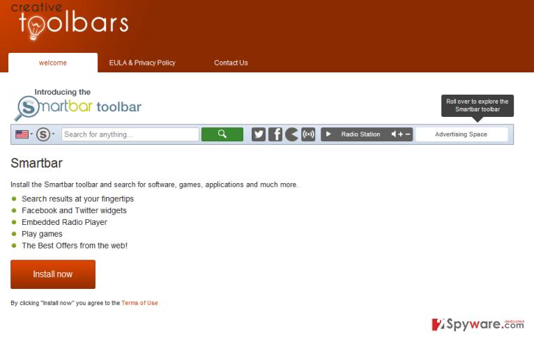 SmartBar Toolbar snapshot