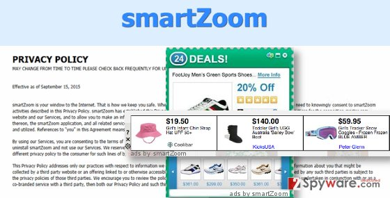 ads by SmartZoom virus