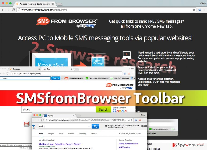 SMSfromBrowser changes browser's homepage