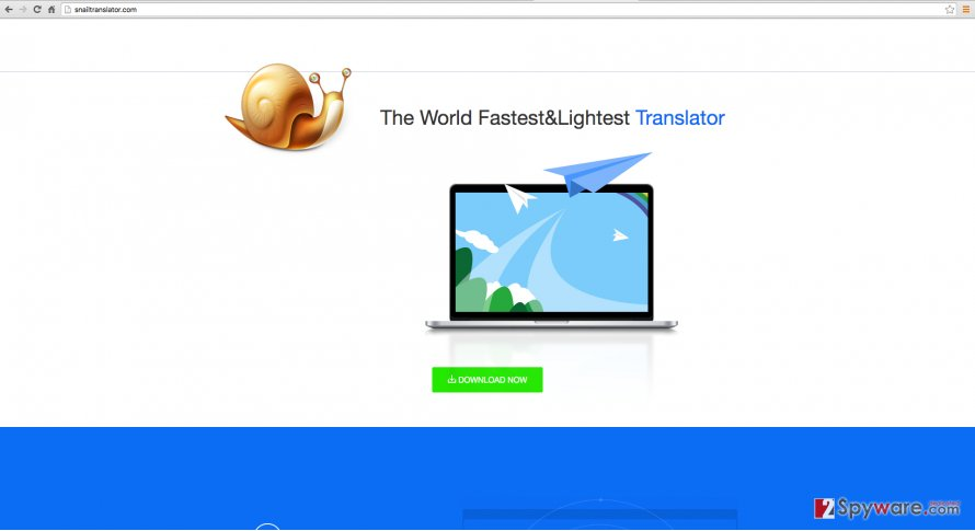 Snail Translate virus screenshot