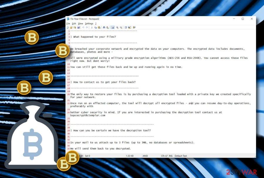 SNAKE ransomware virus