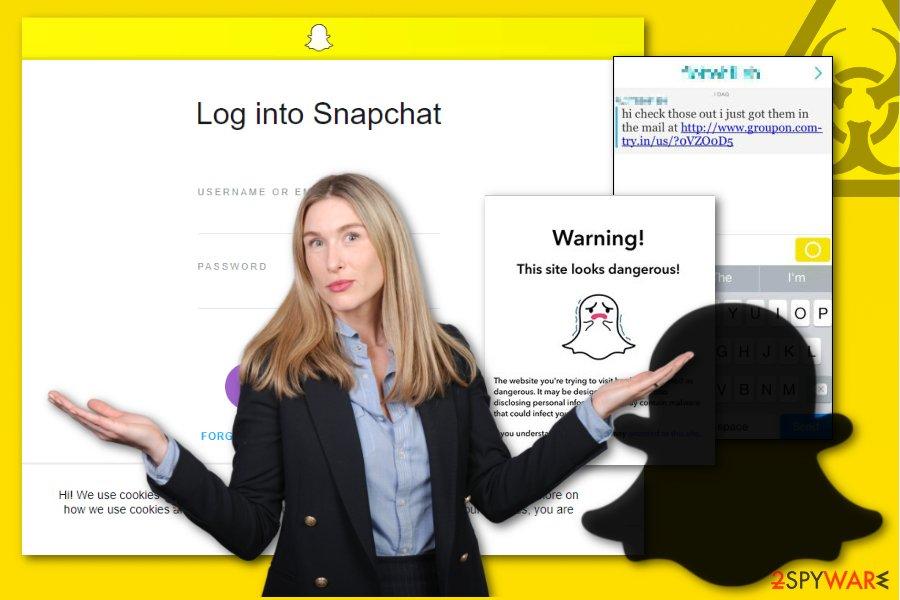 Snapchat malware image
