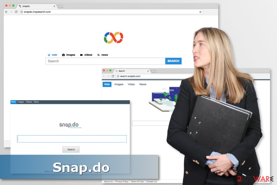 The image of Snapdo browser hijacker