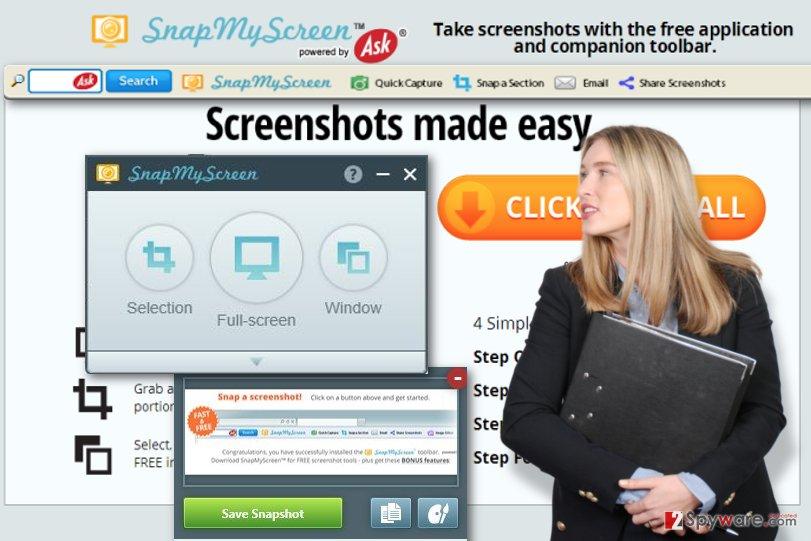 SnapMyScreen Toolbar snapshot