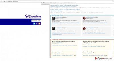 The picture showing social-avenue.com