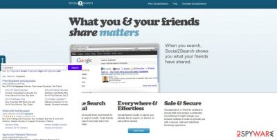 Illustration of Social2Search ads