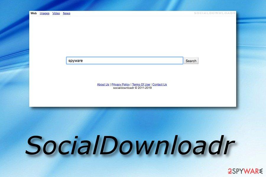 SocialDownloadr hijack