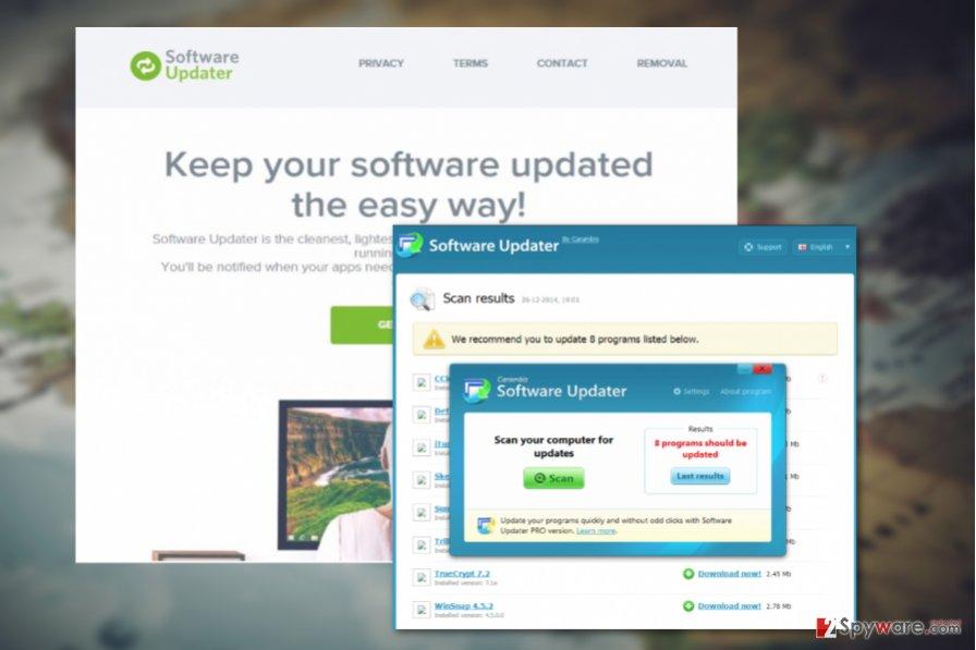 Software Updater virus