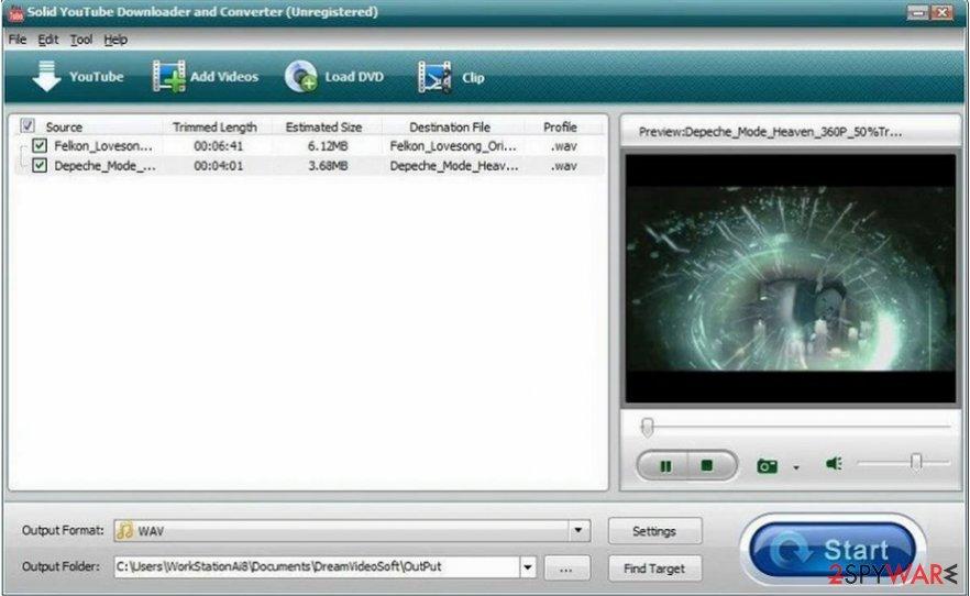 Solid YouTube Downloader virus