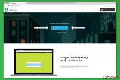 Screenshot of Solo-bar.net official website