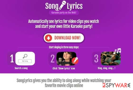 SongLyrics adware
