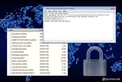 The image of Sorebrect ransomware virus