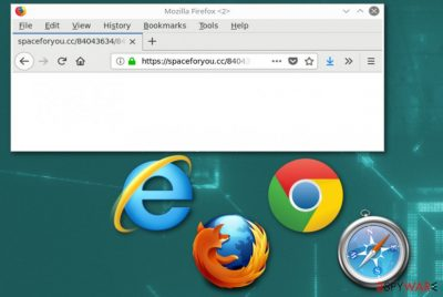 Spaceforyou.cc fake search engine