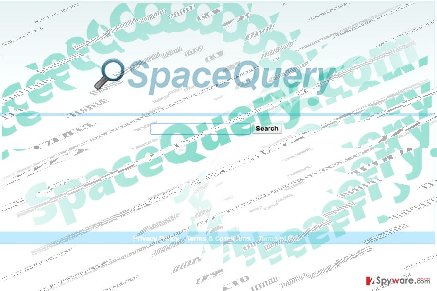 The image displaying spacequery.com